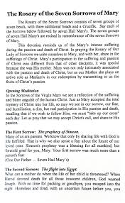 rosary of the seven sorrows 7 sorrows of rosary devotion
