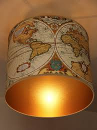 polyphane abat jour abat jour mappemonde intérieur doré plafonnier ø 40 cm