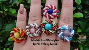 beaded ring bracelet images Spiral galaxy beaded ring tutorial jpg