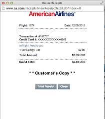 wifi on american airlines flights aa website trick print inflight receipts aadvantagegeek