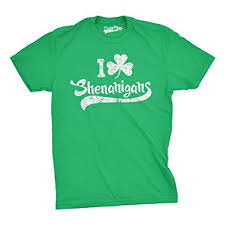 amazon com mens i clover shenanigans t shirt funny saint patricks