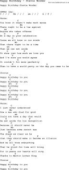 stevie wonder happy birthday song happy birthday by stevie wonder song lyric for vocal