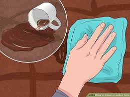 Whats Best To Clean Leather Sofa 4 Ways To Clean A Leather Sofa Wikihow
