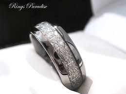 men wedding bands tungsten wedding band his and promise ring imitated