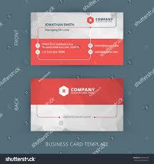 Biz Card Template Vector Modern Creative Clean Business Card Stock Vector 259331600