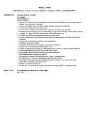 Intern Resume Examples by Download Advertising Internship Resume Haadyaooverbayresort Com
