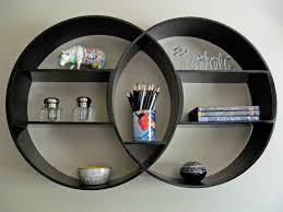 kncs classics deco black wooden shelf round shelf reclaimed