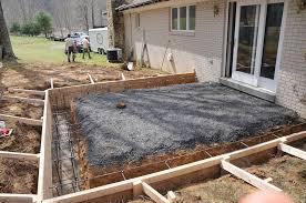 building code concrete deck footings u2014 doherty house
