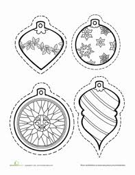 color ornaments worksheets ornament and