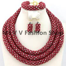 beautiful beads necklace images 2018 indian jewelry set 3 layers gold nigerian wedding african jpg