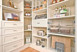 Kitchen Cabinet Shelving Systems by Chic Pantry Shelving With White Finished Wood Pantry Closet