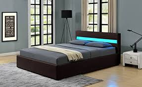 remote control bedroom l romero led music bed with bluetooth speakers ottoman gas lift