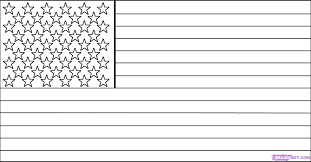 american flag outline 8415 600 330 free printable coloring pages