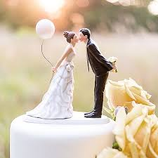 cake toppers wedding leaning in for a balloon wedding cake topper the knot shop