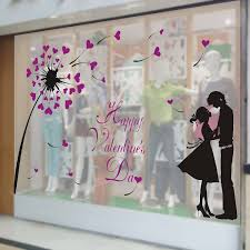 Valentine S Day Store Decoration by Valentine U0027s Day Love Jewelry Clothing Shop Market Large Window