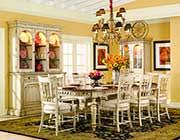 summerglen extendable dining table in antique white by hooker