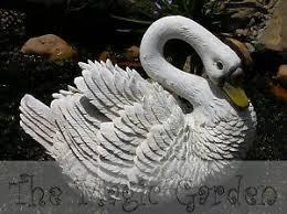 large swan goose garden ornament cement concrete plaster