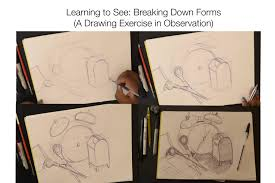 learning to see breaking down forms a drawing exercise in