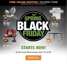 when is spring black friday home depot 2016 the home depot canada spring black friday sale save up to 55 on