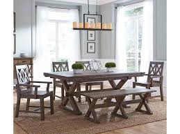 kincaid dining room furniture design center kincaid furniture foundry six piece rustic dining set with bench