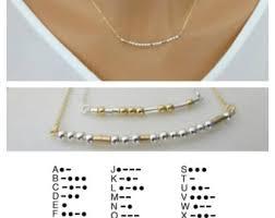 morse code necklace etsy
