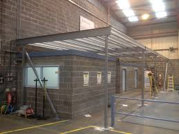 mezzanine floor with offices above spacewise