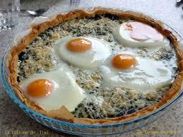 cuisiner les blettes marmiton tarte aux épinards et aux oeufs la cuisine facile de tini
