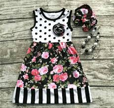 infantile u2014 pretty white black pink floral with stripes u0026 polka