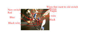 im trying to wire a 3 wire red blue black cieling fan switch to