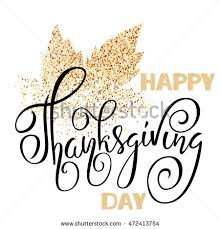 happy thanksgiving day black lettering stock vector 472413754