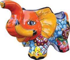 talavera elephant planter u2013 world peaces