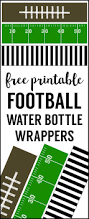 super bowl party invitation template football water bottle labels free printable paper trail design