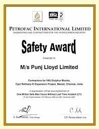 Telecom Engineer Resume Format Safety Certificates Punjlloyd