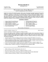 Product Manager Resumes Sample Resume Product Manager Marketing Resume Example Marketing