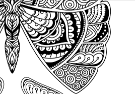 beautiful butterfly doodle art coloring page karyn lewis
