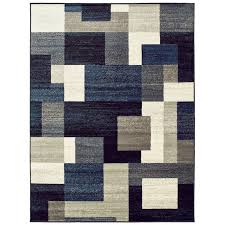 Blue Grey Area Rugs Orren Ellis Taira Block Blue Area Rug Reviews Wayfair