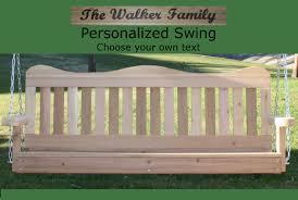 personalized deluxe decorative arbor swing