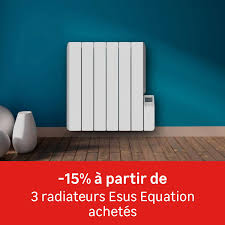 Chauffage Pour Chambre B Radiateur électrique à Inertie Fluide Equation Esus H 1000 W