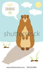 groundhog day cards groundhog day card stock vector 364154936