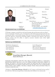 Sample Resume For Zonal Sales Manager by Shakeel Ahmed Cv