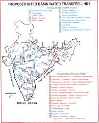 India River Map by Interlinking Of Rivers