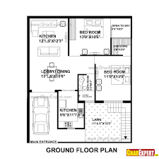 home plan design house plan for 33 by 40 plot plot size 147 square yards