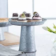 galvanized cake stand medium galvanized metal cake stand kirklands