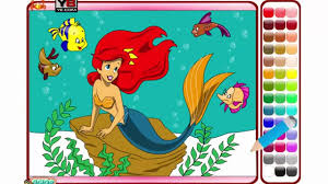 disney coloring pages for little kids little mermaid coloring