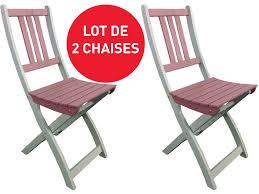 chaises pliantes conforama lot de 2 chaises pliantes de jardin coloris vente de