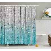 Gray And Teal Shower Curtain Wood Shower Curtains