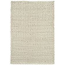 santa ivory chunky knitted wool rug kukoon