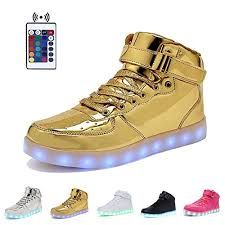light up shoes gold high top high top velcro led light up shoes 7 end 5 30 2020 7 33 pm