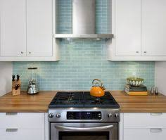 blue tile kitchen backsplash blue subway tile splash back range marble bench top