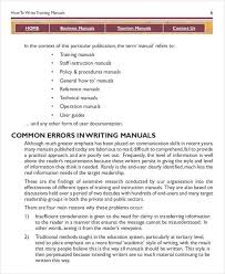 instruction booklet template instruction manual template 10 free
